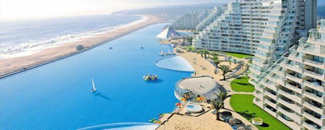 Piscine Algorrabo de l'Hôtel Alfonso del Mar : la piscine la plus longue du monde.