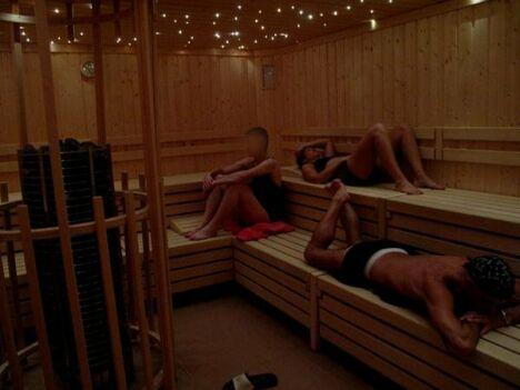 """Le sauna à Ergue Gaberic<span class=""""normal italic"""">DR</span>"""