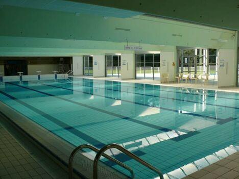 """La grand bassin de natation de la piscine à Beaupreau<span class=""""normal italic petit"""">DR</span>"""