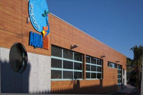 "La piscine Aquasud vue de l'extérieur<span class=""normal italic petit"">DR</span>"