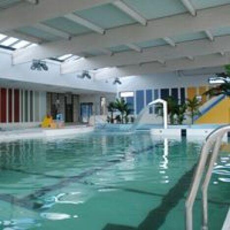 "Le bassin sportif de la piscine Aquatis à Vitry en Artois<span class=""normal italic petit"">DR</span>"