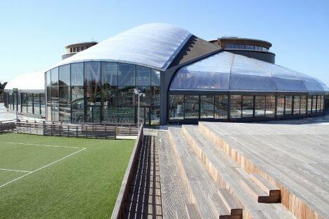 Archipel à Agde : le bâtiment vu de l'extérieur