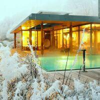 Piscines sous la neige