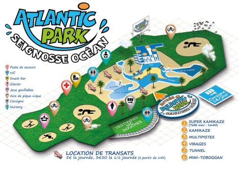 Atlantic Park à Seignosse : le plan