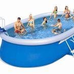 Bestway piscines hors sol spa et jouets gonflables - Piscine autoportante ovale ...