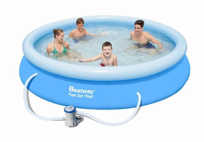 Piscine gonflable ronde for Petit aspirateur piscine gonflable