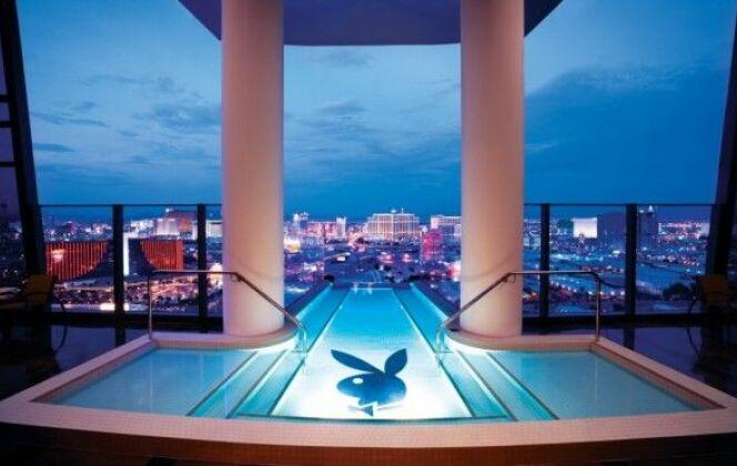 Piscine avec vue sur le Strip, Hugh Hefner Sky Villa, Palms Hotel (Las Vegas, Etats-Unis) © Luxury Design