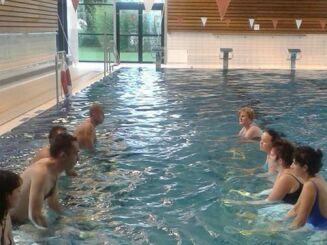 La piscine Beau Soleil de Questembert propose des cours d'aquabike.