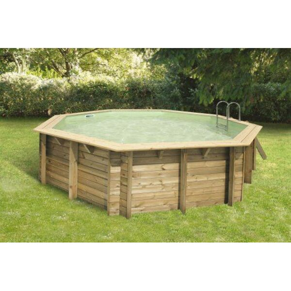 Piscine hors sol bois ronde bahia first piscine hors sol for Piscine liner sable