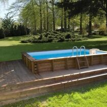 photos des plus belles piscines hors sol en bois piscine hors sol en bois cerland weva. Black Bedroom Furniture Sets. Home Design Ideas