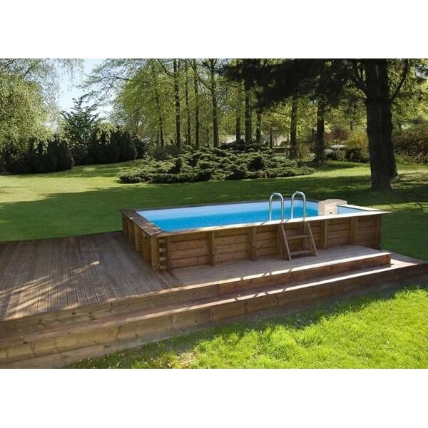 Piscine en bois rectangulaire sunbay egt aqua for Piscine kit enterree