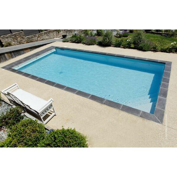 Piscine classique avec escalier d angle int rieur for Prix d une piscine caron