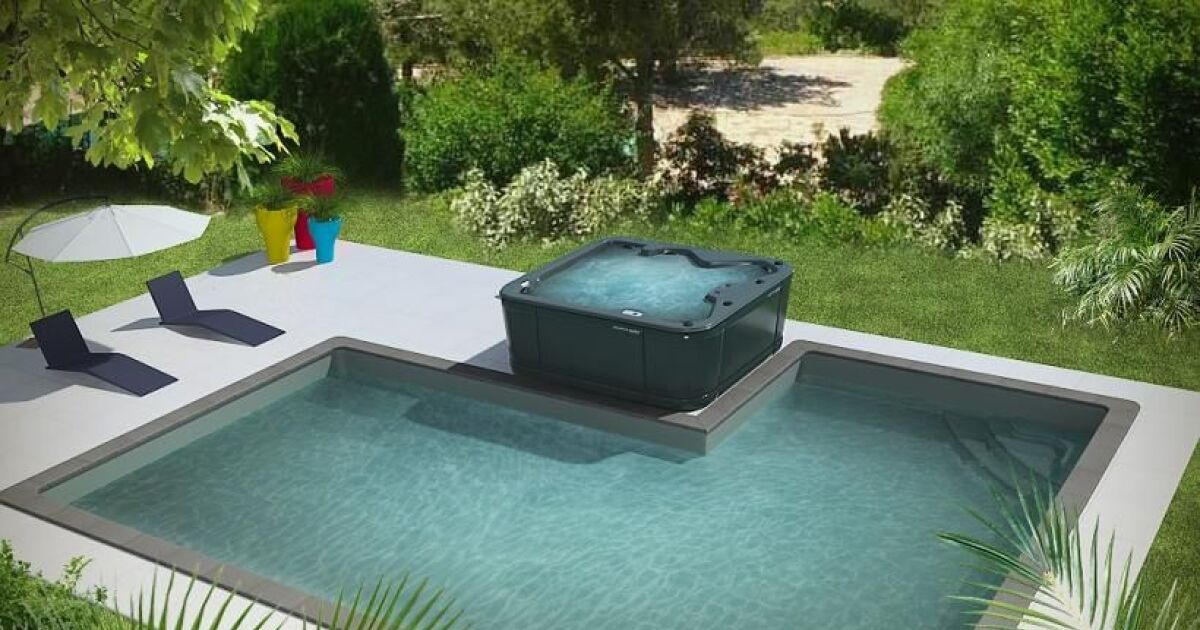 Piscine concept piscine spa par aquilus for Piscine coque avec spa
