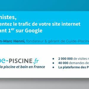 Piscine Connect : téléchargez le webinar Guide-Piscine.fr pour augmenter le trafic sur votre site