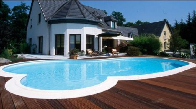 "Piscine contemporaine ""Claire"" Waterair© Waterair"