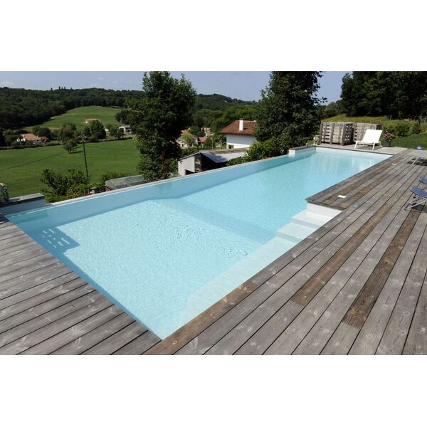 Piscine Rectangulaire Avec Mur De Debordement Piscines De France