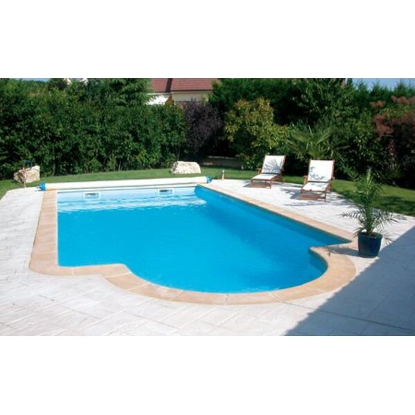 Piscine coque polyester corail fond plat alliance piscines - Piscine enterree coque ...