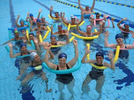Une séance d'aquagym à la piscine d' Eymoutiers