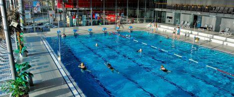 "Le bassin sportif de piscine Das Blau à St. Ingberter<span class=""normal italic petit"">DR</span>"