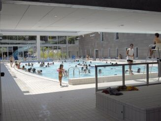 Le grand bassin sportif de la piscine de Caluire et Cuire