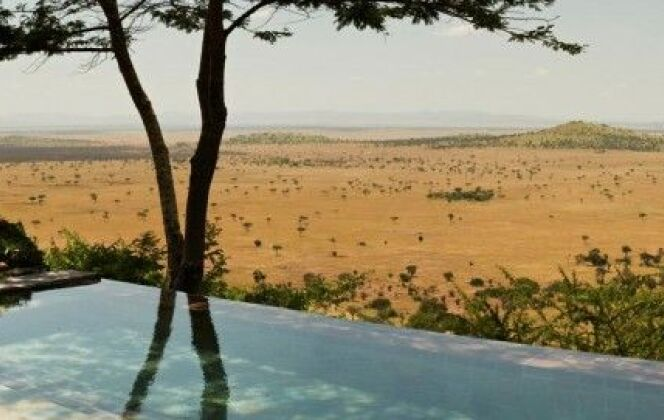 Piscine de l'Hôtel Singita Grumeti en Tanzanie © Singita Grumeti