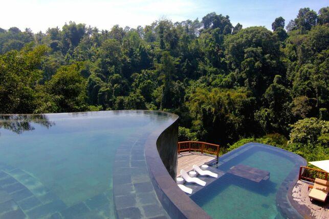 Piscine de l'Hôtel Ubud Hanging Gardens à Bali