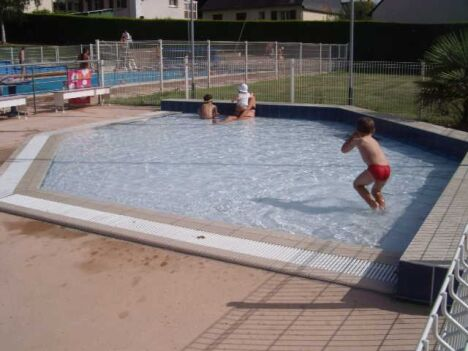 """La pataugeoire pour les enfants à la piscine de La Cheze<span class=""""normal italic petit"""">DR</span>"""