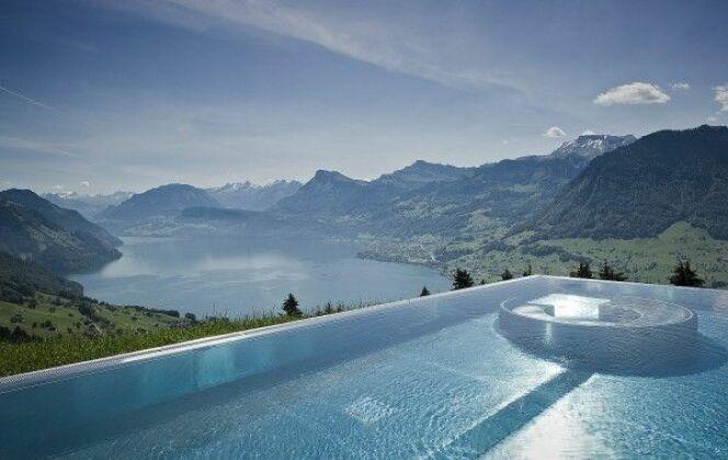 Piscine de la villa Honegg en Suisse © Villa Honegg