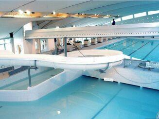 Le toboggan de la piscine Aquarive à Quimper