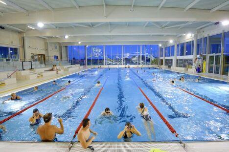 """Le grand bassin de la piscine des Weppes à Herlies<span class=""""normal italic petit"""">DR</span>"""