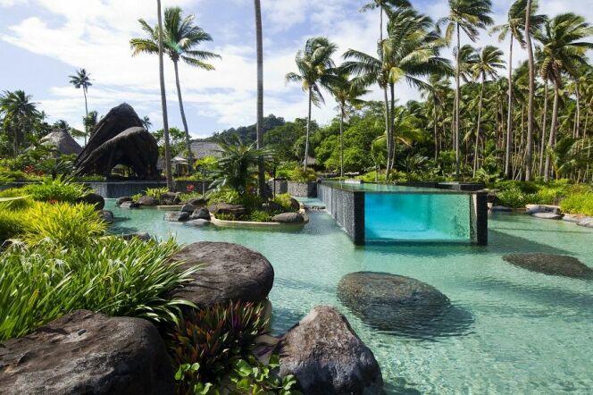 Piscine du Laucala Island Resort aux Îles Fidji