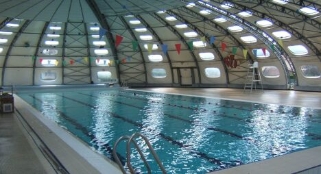 """Le bassin de natation de la piscine à Sorbiers<span class=""""normal italic petit"""">DR</span>"""
