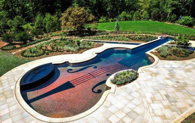 Piscine en forme de violon, Cipriano Landscape Design © Cipriano Landscape Design