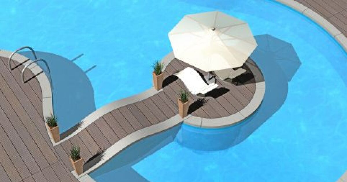 Les piscines aux formes les plus originales - Deco autour de la piscine ...