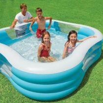 Produit les piscines hors sol les diff rents types for Piscine carre gonflable