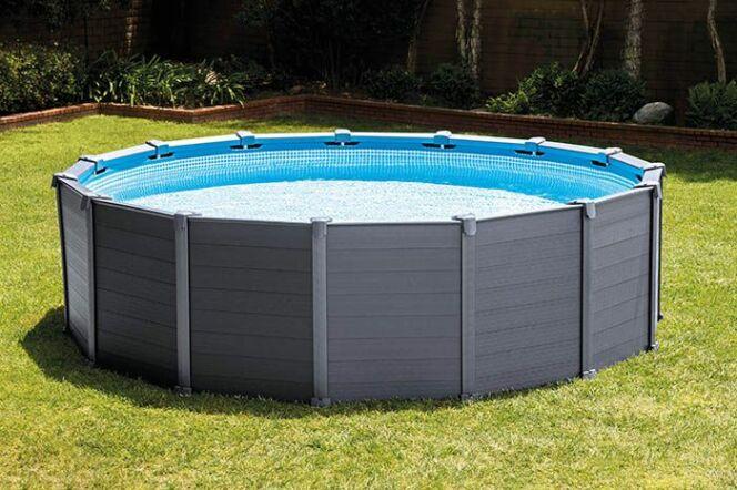 les piscines hors sol intex pour tous les go ts et tous les budgets piscine graphite photo 6. Black Bedroom Furniture Sets. Home Design Ideas