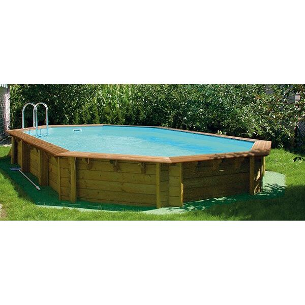 piscine hors sol en bois cerland odyssea octogonale de