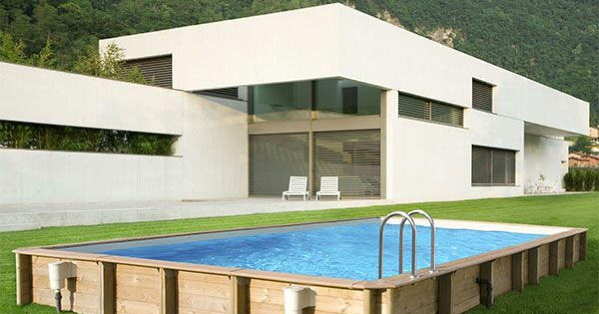 Piscine hors sol bois odyssea rectangle cerland for Choix piscine hors sol