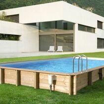 Les plus belles photos de piscines bois hors sol semi for Aqua bois piscine