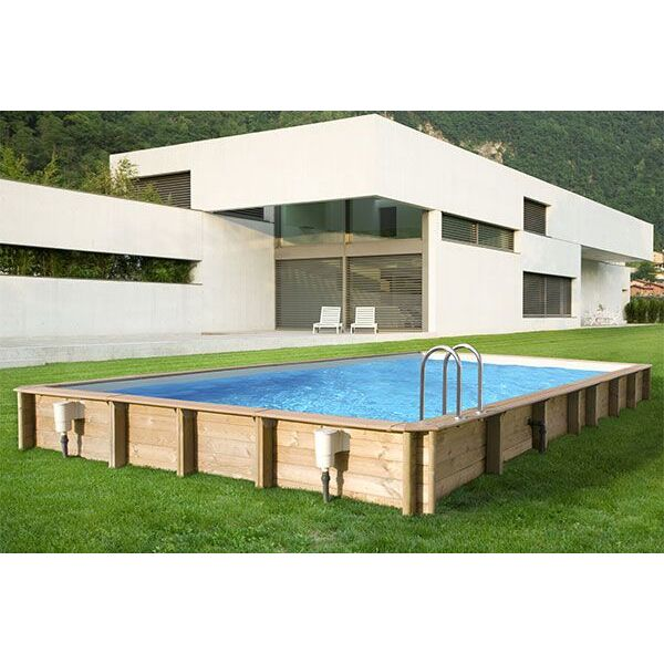 piscine hors sol en bois cerland odyssea rectangulaire. Black Bedroom Furniture Sets. Home Design Ideas