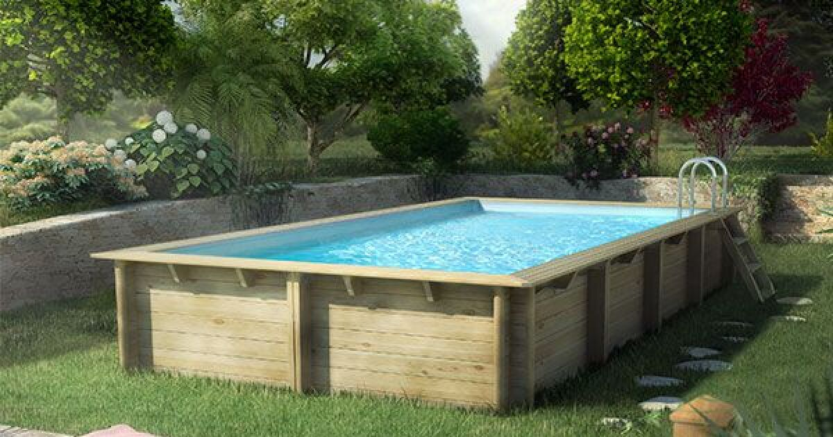piscine hors sol en bois cerland weva rectangulaire de piscine center. Black Bedroom Furniture Sets. Home Design Ideas