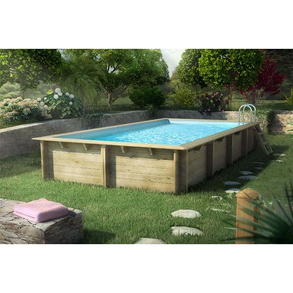 piscine hors sol en bois cerland weva rectangulaire de. Black Bedroom Furniture Sets. Home Design Ideas