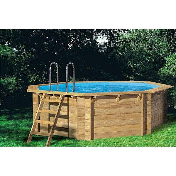 piscine hors sol en bois woodfirst octogonale de piscine