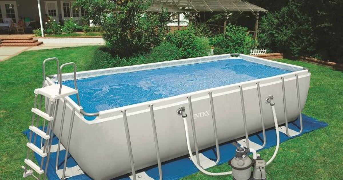 Ultra silver par intex une grande piscine sans travaux for Piscine hors sol imposable