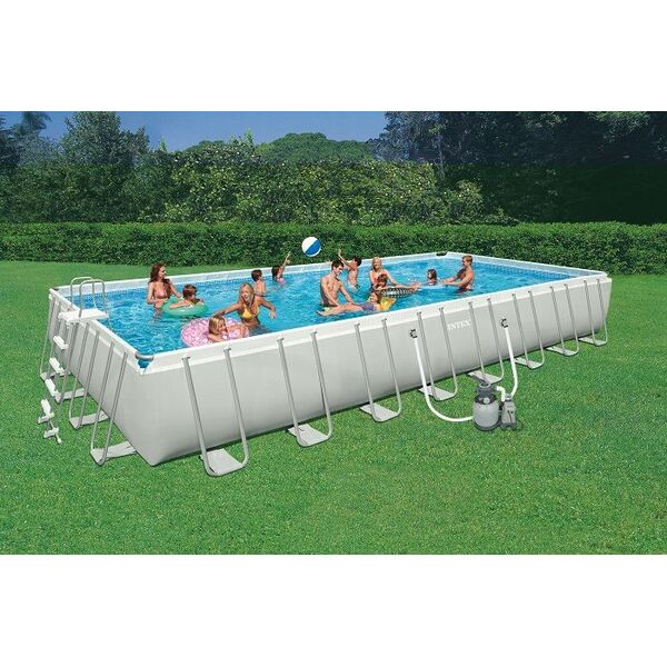Ultra silver par intex une grande piscine sans travaux for Piscine intex hors sol