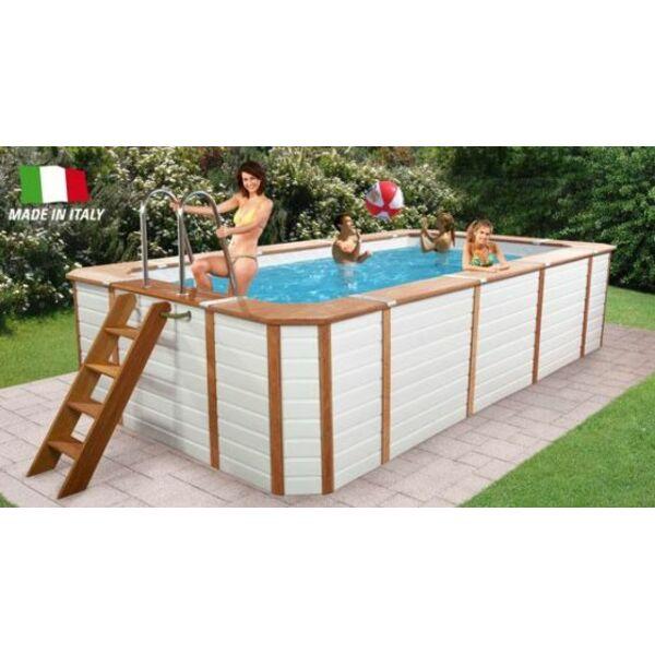 piscine tubulaire entouree de bois