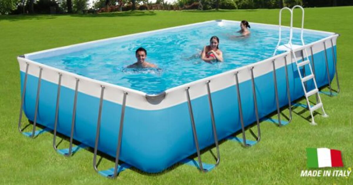 Piscine hors sol tropic de poolmaster for Piscine demontable rectangulaire