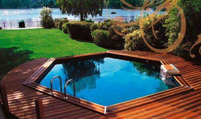 Les plus belles photos de piscines bois hors sol semi enterr e ou enterr e - Prix piscine piscinelle ...