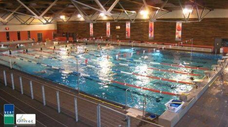 La bassin de 25m de la piscine d'Olivet