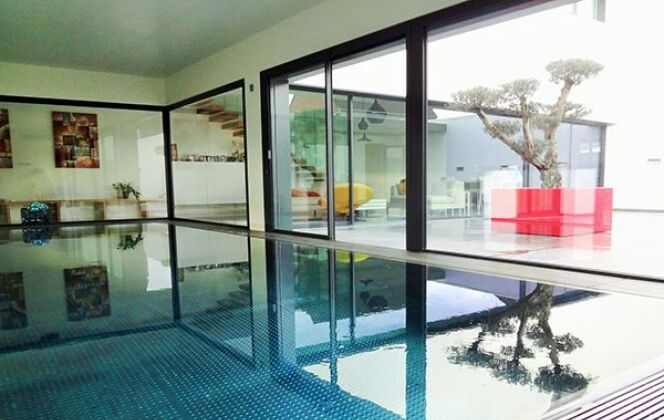 Piscine intérieure Steel and Style © Steel and Style